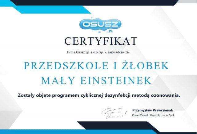 Ozonowanie – cykliczne zabiegi w krakowskim przedszkolu